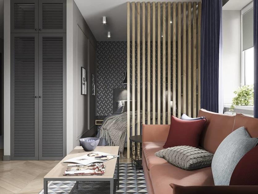 Зонирование комнаты на спальню и гостиную: идеи и варианты дизайна на фото | SALON